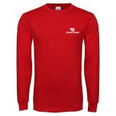 Red Long Sleeve T Shirt-Dayton Flyers