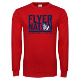 Red Long Sleeve T Shirt-Flyer Nation