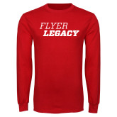 Red Long Sleeve T Shirt-Flyer Legacy