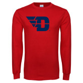 Red Long Sleeve T Shirt-Flying D