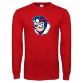 Red Long Sleeve T Shirt-Mascot
