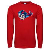Red Long Sleeve T Shirt-Mascot Profile