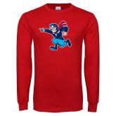 Red Long Sleeve T Shirt-Full Mascot