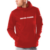 Under Armour Red Armour Fleece Hoodie-Athletics Wordmark