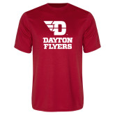 Performance Red Tee-Dayton Flyers Stacked