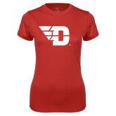 Ladies Syntrel Performance Red Tee-Flying D