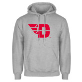Grey Fleece Hoodie-Flying D