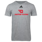 Adidas Sport Grey Logo T Shirt-Dayton Flyers