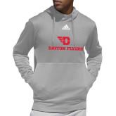 Adidas Grey Team Issue Hoodie-Dayton Flyers