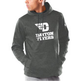 Under Armour Carbon Armour Fleece Hoodie-Dayton Flyers Stacked