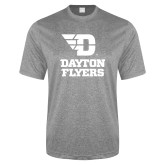 Performance Grey Heather Contender Tee-Dayton Flyers Stacked