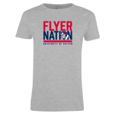 Ladies Grey T Shirt-Flyer Nation