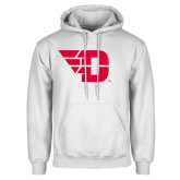 White Fleece Hoodie-Flying D