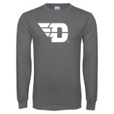 Charcoal Long Sleeve T Shirt-Flying D