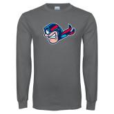 Charcoal Long Sleeve T Shirt-Mascot Profile