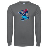 Charcoal Long Sleeve T Shirt-Full Mascot
