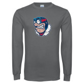 Charcoal Long Sleeve T Shirt-Mascot Distressed