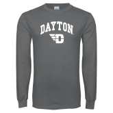 Charcoal Long Sleeve T Shirt-Arched Dayton