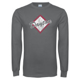 Charcoal Long Sleeve T Shirt-Distressed Dayton