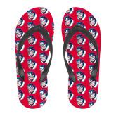 Full Color Flip Flops-Mascot Head