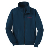Navy Charger Jacket-Athletics Wordmark