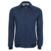Navy Players Jacket-Athletics Wordmark