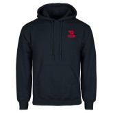 Navy Fleece Hoodie-Dayton Flyers Stacked