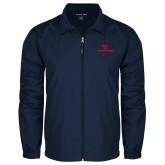 Full Zip Navy Wind Jacket-Dayton Flyers