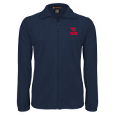 Fleece Full Zip Navy Jacket-Dayton Flyers Stacked