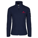 Columbia Ladies Full Zip Navy Fleece Jacket-Dayton Flyers