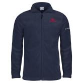 Columbia Full Zip Navy Fleece Jacket-Dayton Flyers