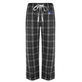 Black/Grey Flannel Pajama Pant-Mascot Head