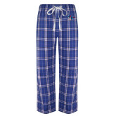 Royal/White Flannel Pajama Pant-Mascot Head