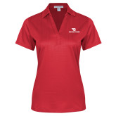 Ladies Red Performance Fine Jacquard Polo-Dayton Flyers