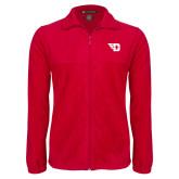Fleece Full Zip Red Jacket-Flying D