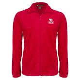 Fleece Full Zip Red Jacket-Dayton Flyers Stacked