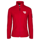 Columbia Ladies Full Zip Red Fleece Jacket-Flying D