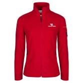 Columbia Ladies Full Zip Red Fleece Jacket-Dayton Flyers