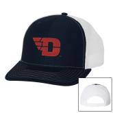 Richardson Navy/White Trucker Hat-Flying D