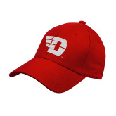 Red Heavyweight Twill Pro Style Hat-Flying D