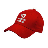 Red Heavyweight Twill Pro Style Hat-Dayton Flyers Stacked