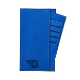 Parker Blue RFID Travel Wallet-Flying D Engraved