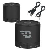 Wireless HD Bluetooth Black Round Speaker-Flying D Engraved