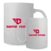 Full Color White Mug 15oz-Dayton Flyers