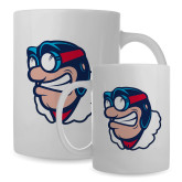 Full Color White Mug 15oz-Mascot Head