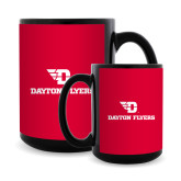 Full Color Black Mug 15oz-Dayton Flyers