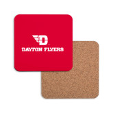 Hardboard Coaster w/Cork Backing-Dayton Flyers