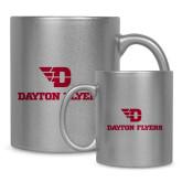 Full Color Silver Metallic Mug 11oz-Dayton Flyers