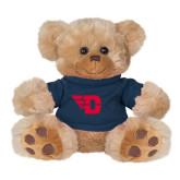 Plush Big Paw 8 1/2 inch Brown Bear w/Navy Shirt-Flying D