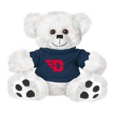 Plush Big Paw 8 1/2 inch White Bear w/Navy Shirt-Flying D